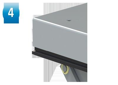 Aluminium contact strip.