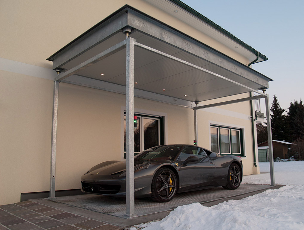 Car lift for private parking.