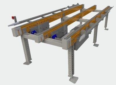 Euro pallet chain conveyor