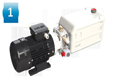 Compact hydraulic group