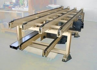 Conveyor with four chains.