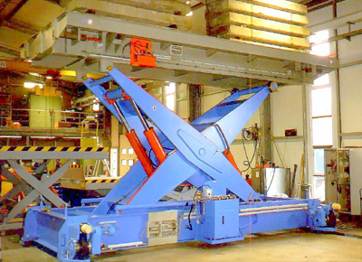 Device for changing bogies, capacity 80 t.