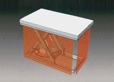 Diagram of mesh.