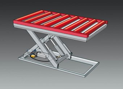 Diagram of roller conveyor.