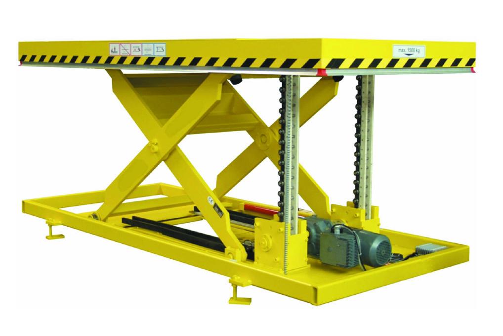 Double rigid chain lift table.