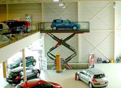 Double scissor car lift.