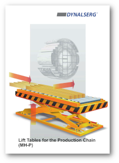 Dynalserg Lift Tables for the Production Chain Catalogue Cover page
