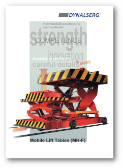 Dynalserg Mobile Lift Tables Catalogue Cover page