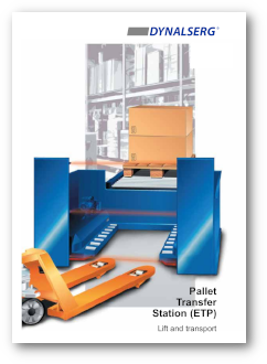 Dynalserg Pallet Transfert Station PTS Catalogue Cover page