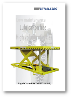 Dynalserg Rigid Chain Lift Tables Catalogue Cover page