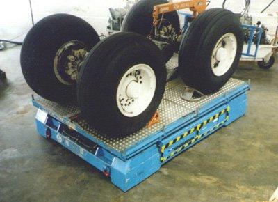 Landing gear lift table.