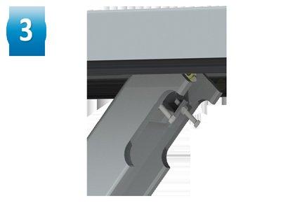 Mechanised scissor arm