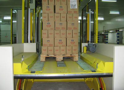 PTS with embedded rollers for chep pallets at height