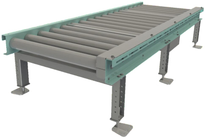 Roller conveyor for whole pallets