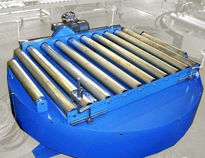 Roller conveyor turntable
