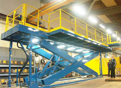 Aircraft assembly work platform.