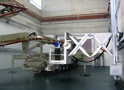 Work platform with lift, travel and advance.